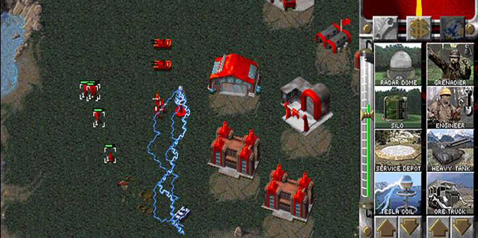 Tesla coils in Command and Conquer screenshot